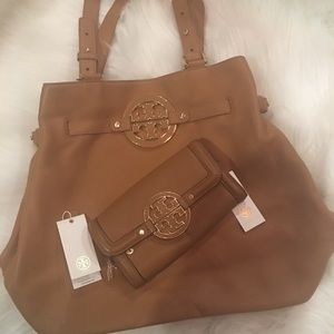 Authentic TB Amanda Tote w/Matching wallet